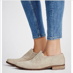 Free People Brady Suede Slip On Loafer in Taupe 8
